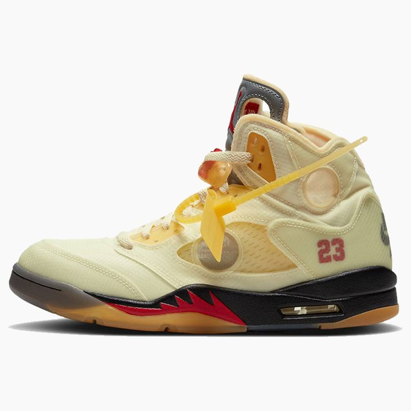 """Off-White™ x Air Jordan 5 """"Sail"""""""