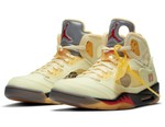 """Official Images of the Off-White™ x Air Jordan 5 """"Sail"""""""