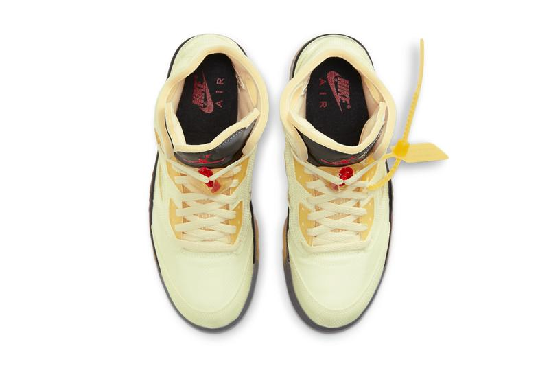off white air jordan brand 5 sail official images photos DH8565100 release date info price store list buying raffle guide