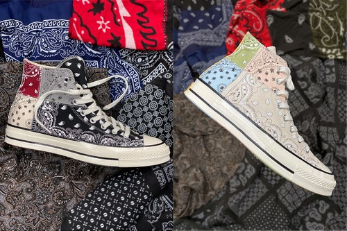 Offspring Wraps Converse Chuck 70 in Patchwork Paisley Pattern