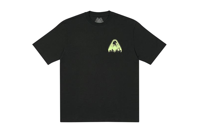 "Palace ""Tri-Cult"" Glow-In-The-Dark Halloween T-Shirt skateboards black release date info buy store price"