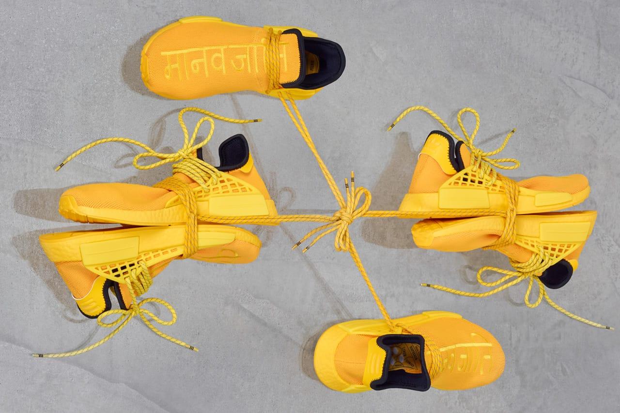 Pharrell x adidas NMD Hu Yellow Release