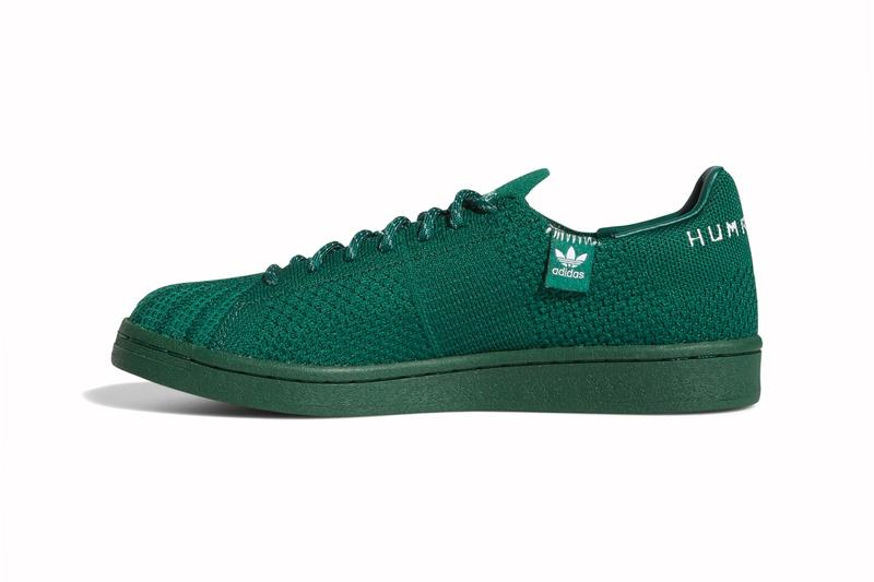 Pharrell Williams adidas Superstar Primeknit Auburn dark green menswear streetwear fall winter 2020 collection fw20 shoes sneakers footwear kicks trainers runners
