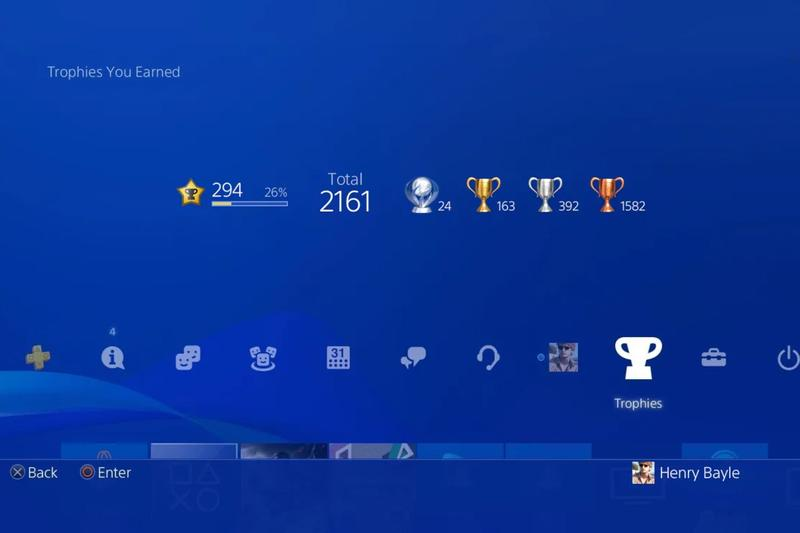 Sony PlayStation 4 Trophies New Leveling System Update PS5 PlayStation 5 App