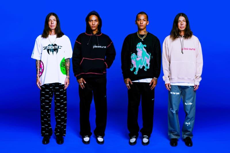 Pleasure Fall Winter 2020 Lookbook fw20 collection menswear streetwear jackets sweaters shirts tees graphics pants