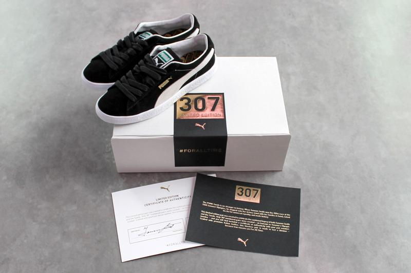 puma suede tommie smith black white 50 years 1968 olympic games friends and family 307 pairs official release date info photos price store list buying guide