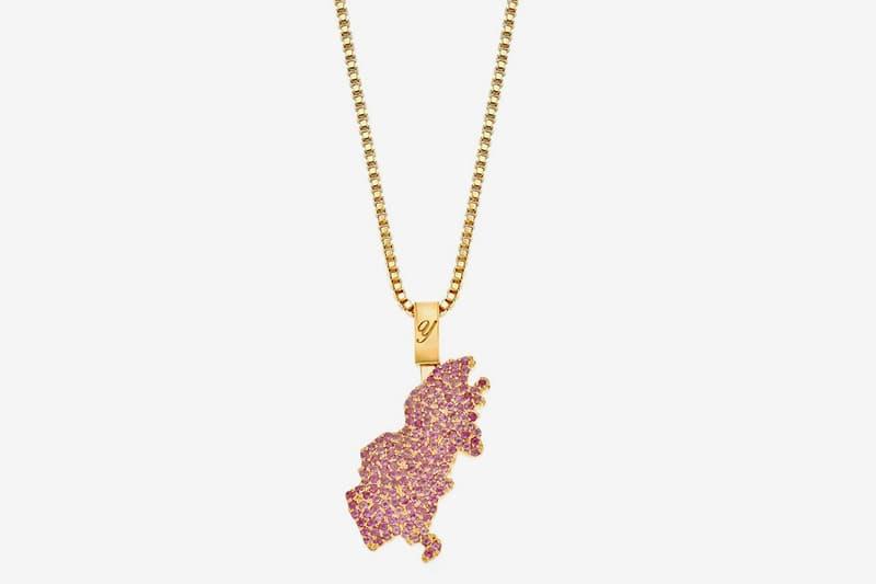 Quantez Crafts ASAP Yams Birthmark Chain necklaces jewelry menswear streetwear custom Amethyst stone gemstone purple iconic