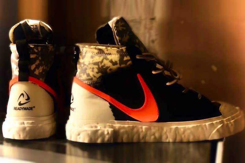 READYMADE Nike Blazer Mid First Look Release Info cz3589-001 Black Vast Grey Volt Total Orange Yuta Hosokawa