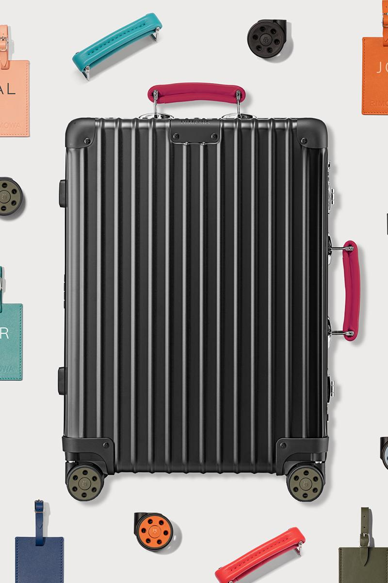 RIMOWA Classic Matte Black luggage collection fall winter 2020 fw20 wheels handles tags unique info