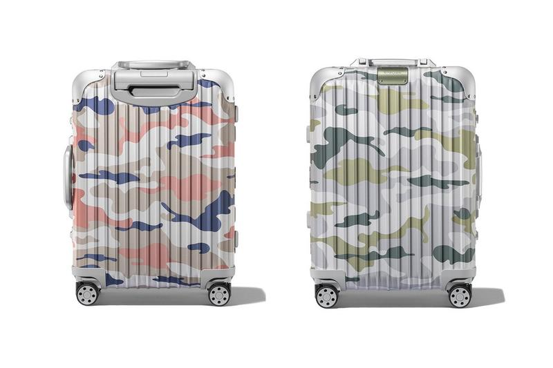 RIMOWA's Original Cabin Camouflage green pink suitcases travel accessories luggage