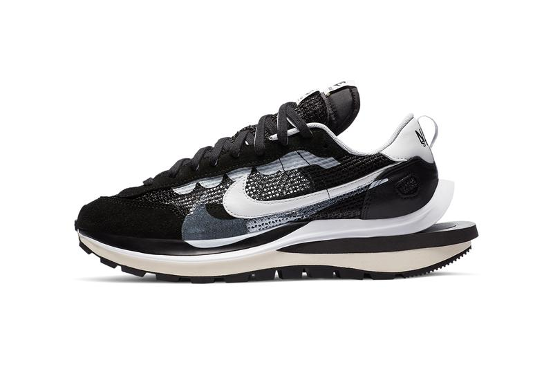 sacai nike sportswear vaporwaffle black white red blue CV1363 001 100 official release date info photos price store list buying guide