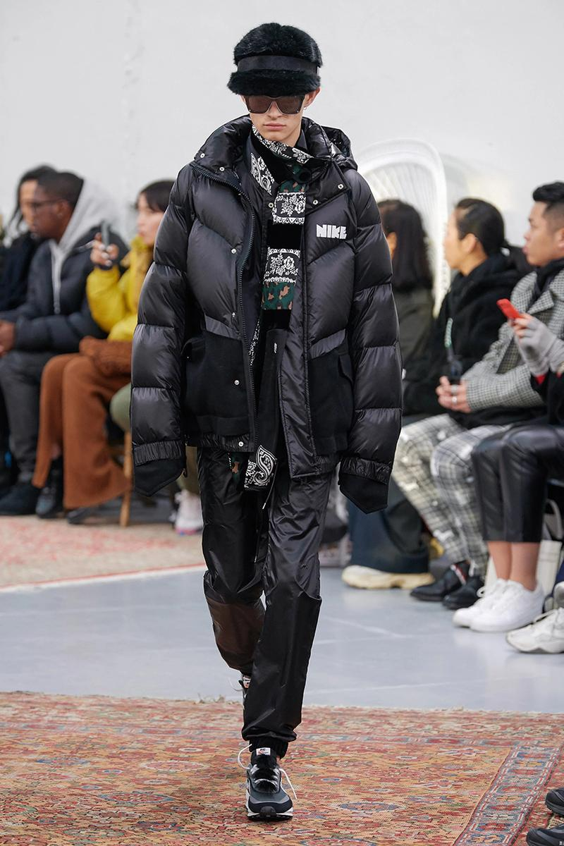 sacai nikelab puffer jacket hoodie release date info buy colorway fall winter 2020 fw20 collection collaboration CT3269-010,043,355 M NRG Rh PARKA CW2419-010,100,475 U NRG Rh HOODIE CT3267-010,043,355,475 W NRG Rh PARKA