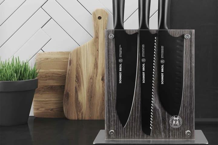 schmidt brothers german stainless steel titanium coated jet black matte knives cooking utensils cutlery set