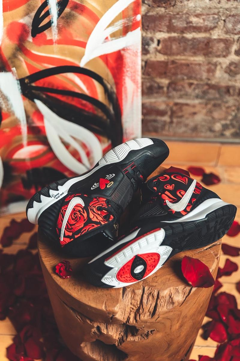 sneaker room nike basketball kyrie irving 6 mom collection white cream black red gold hearts official release date info photos price store list buying guide