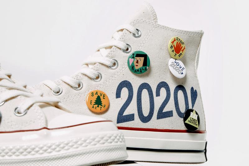 social status nina chanel converse chuck taylor all star white red blue 2020 us presidential election kamala harris charity official release date info photos price store list buying guide
