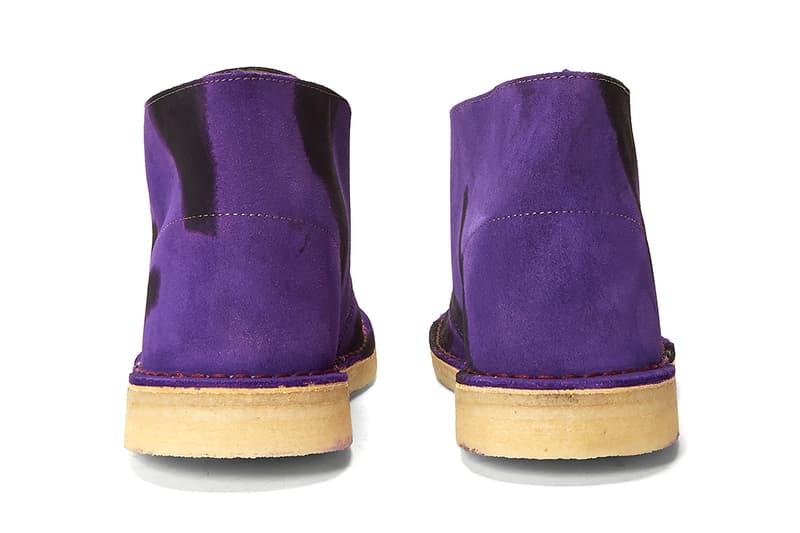 stain shade Clarks Originals desert boot ln-cc 10.10 project rework hand-dyed purple brown