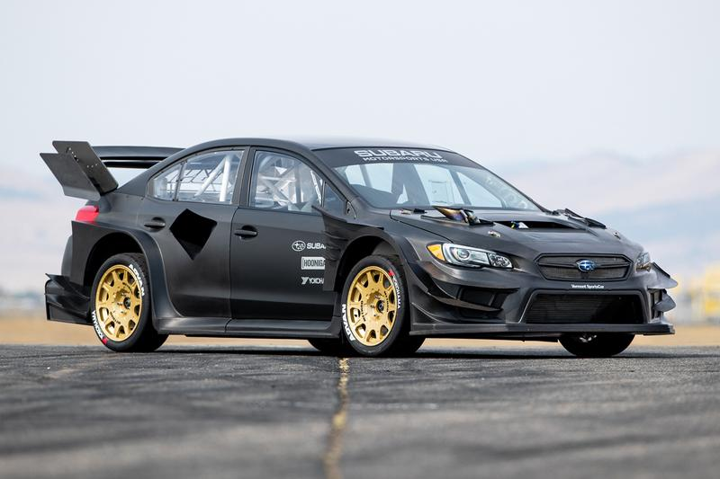 Travis Pastrana's Subaru WRX STI Gymkhana Hoonigan Racing Division Tuned Custom Power Output V4 Turbo WRC Rally Off Road Raw Carbon Fiber Drifting 4WD Japanese JDM Body Kit Widebody Aerodynamics
