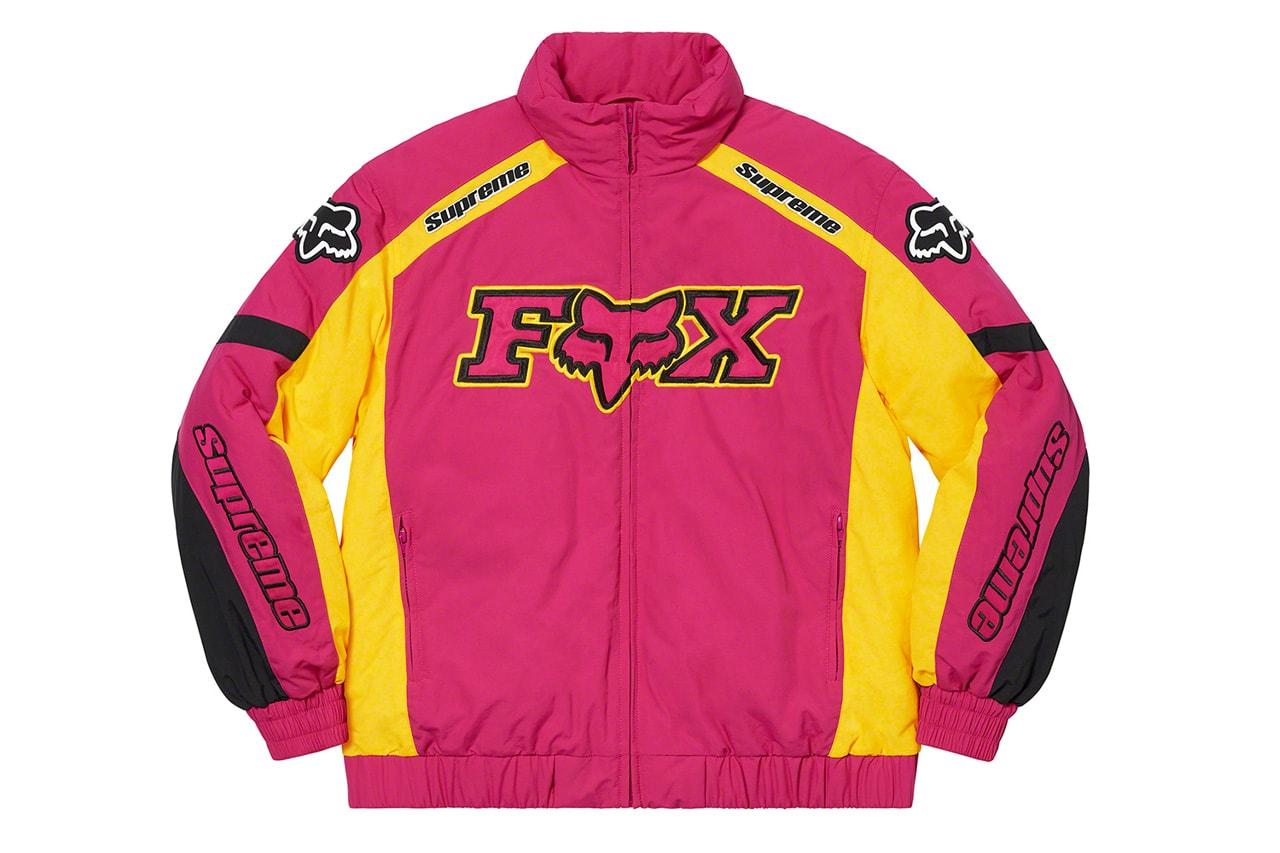 シュプリームxフォックスレーシングから2020年秋冬シーズンの最新コラボコレクションが登場 supreme fox racing fall winter 2020 collection