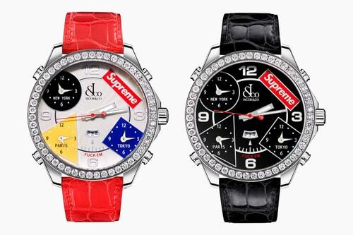 Supreme x Jacob & Co. Time Zone Watch