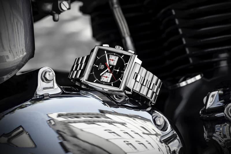 tag heuer swiss watch luxury brand monaco chronograph in house movement caliber steel bracelet 20 years