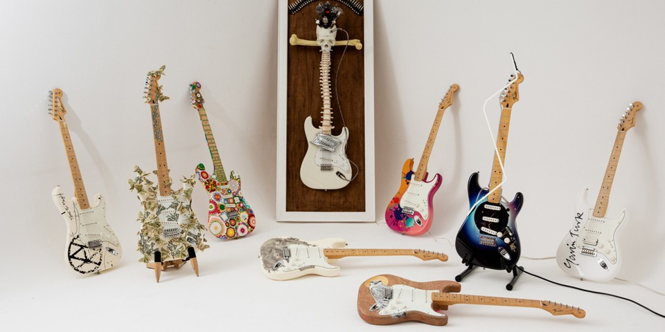 Artist-Designed Guitars Are Being Auctioned to Support Marginalized Groups in U.K.