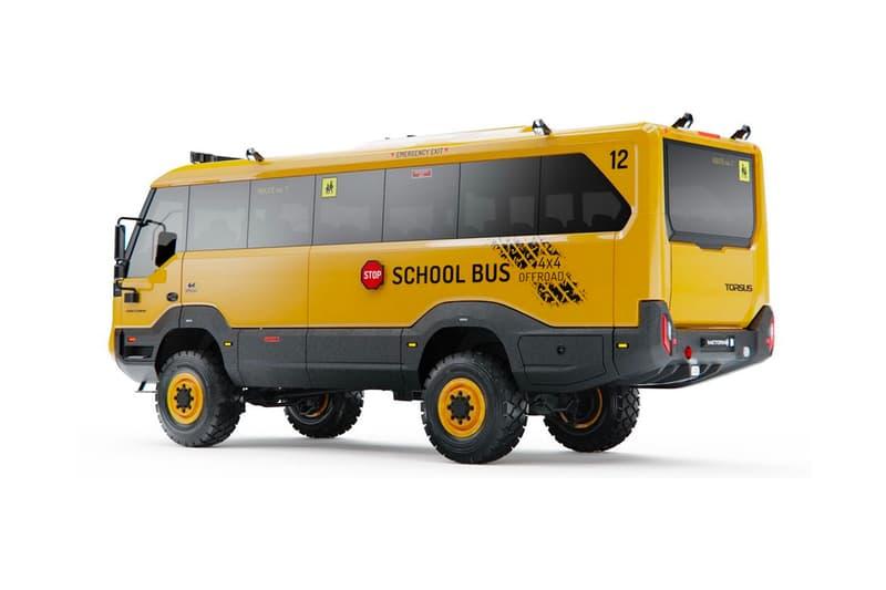 Torsus Praetorian Off-Road School Bus off-road buses 4x4 differential lock Czech Czech Republic