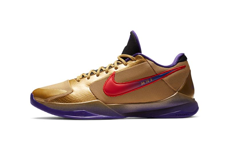 undefeated nike basketball kobe bryant 5 protro hall of fame metallic gold field purple multi color red DA6809 700 official release date info photos price store list buying guide