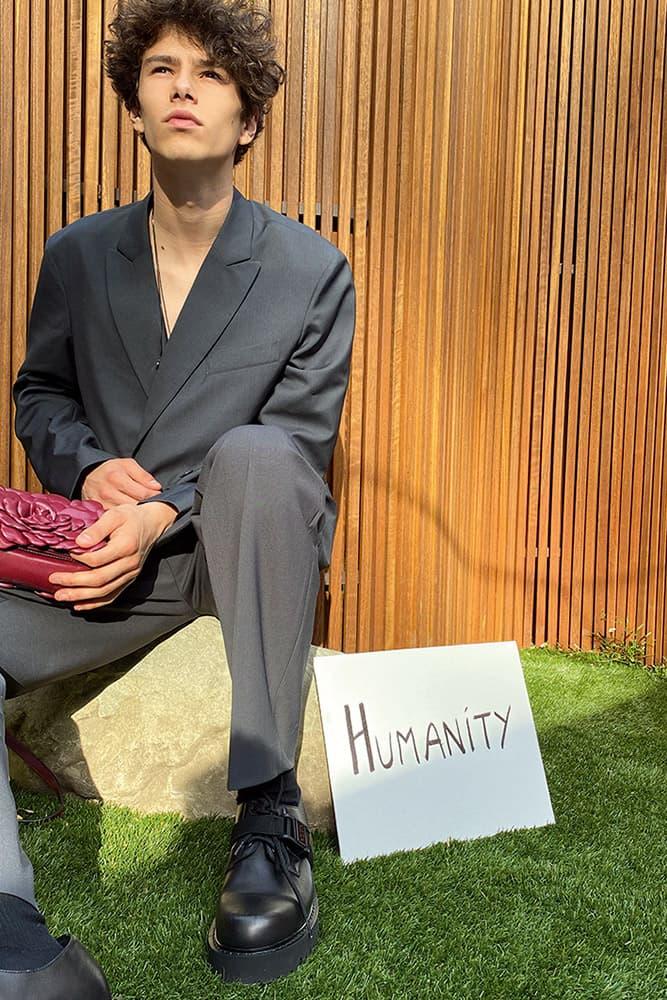 valentino empathy advertising campaign charity men women fall winter 2020 2021