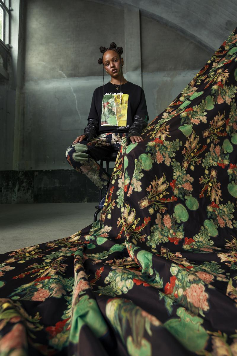 Vincent Van Gogh Museum x Daily Paper FW20 Collaboration fall winter 2020 collection campaigns sunflower The Potato Eaters still life starry night amsterdam netherlands release date buy menswear womens
