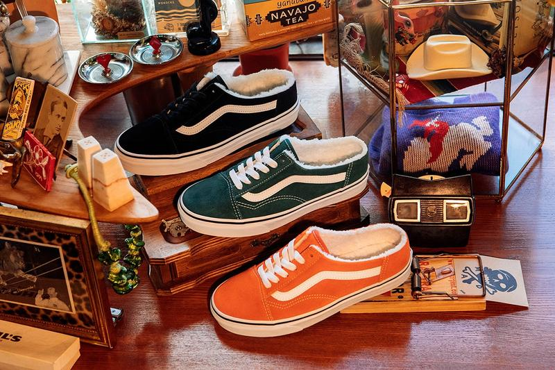Vans Fleece Mule Sherpa Collection Slip-On Old Skool Sneaker Footwear Release Information Drop Date Closer Look Limited Edition Shoes Trainers Home Lockdown COVID-19 Cozy Fall Winter 2020 FW20 Indoors House Home