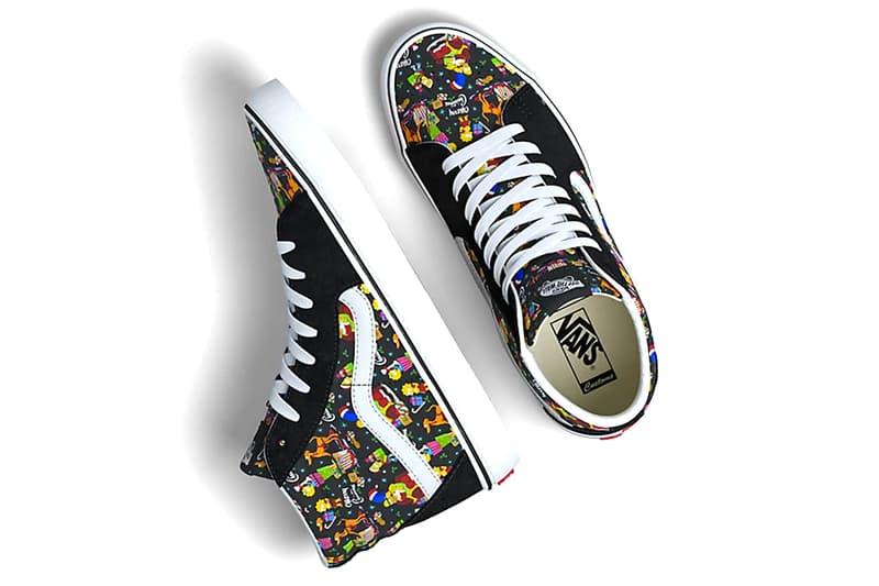 Vans The Simpsons 2020 Christmas Capsule collection shoes footwear kicks trainers runners sneakers fw20 fall winter 2020 menswear streetwear