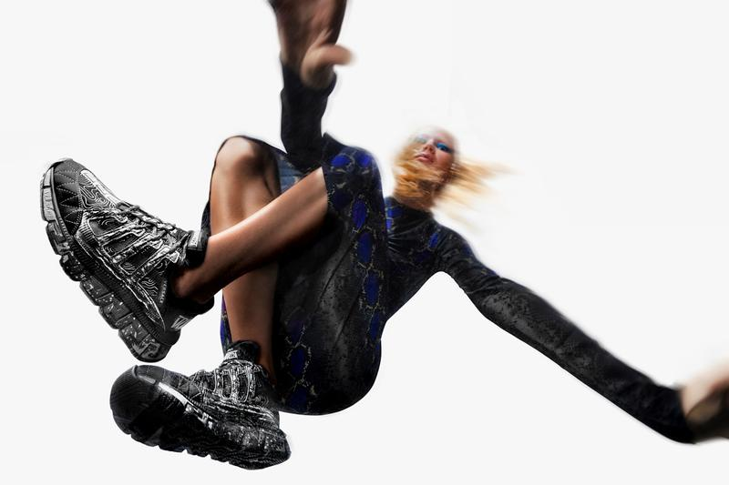 versace trigreca sneaker shoe donnatella versace interview official release date info photos price store list buying guide