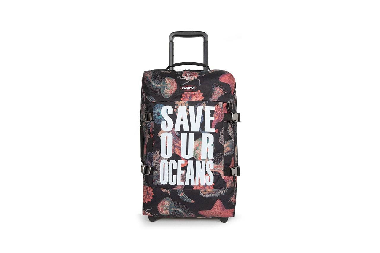 vivienne westwood eastpak save our oceans backpack suitcase travel side bag waist bag release information details sustainability