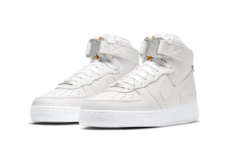 1017 alyx 9sm matthew m williams nike sportswear air force 1 high white sail silver gold cq4018 100 official release date info photos price store list buying guide