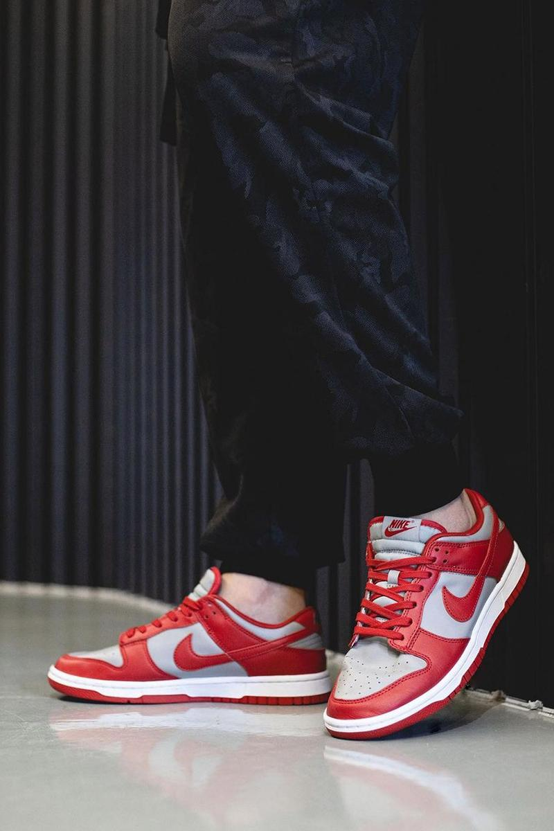 """2021 Nike Dunk Low """"University Red"""" Off-White™ Gray Navy Swoosh New Colorways Release Information First Look Drop Date Cop RepGod888 Samples SB Skateboarding Basketball Sneakers Shoe Trainer Footwear"""