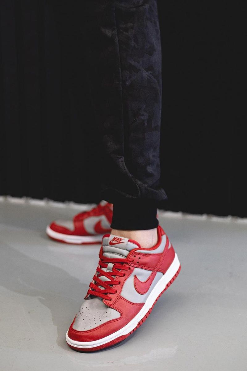 "2021 Nike Dunk Low ""University Red"" Off-White™ Gray Navy Swoosh New Colorways Release Information First Look Drop Date Cop RepGod888 Samples SB Skateboarding Basketball Sneakers Shoe Trainer Footwear"