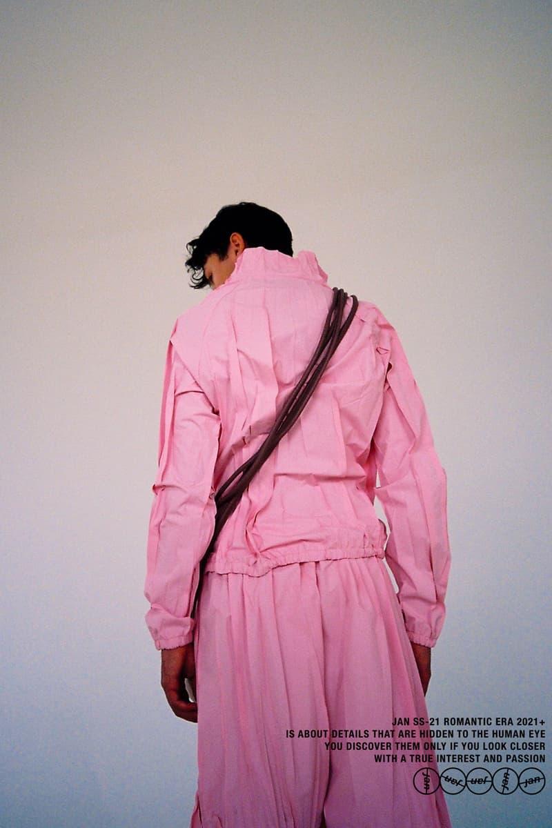 """Jan Černý Spring/Summer 2021 SS21 Collection """"ROMANTIC ERA 2021+"""" Lookbook Czech Emerging Designer Prague Virgil Abloh Louis Vuitton Internship"""