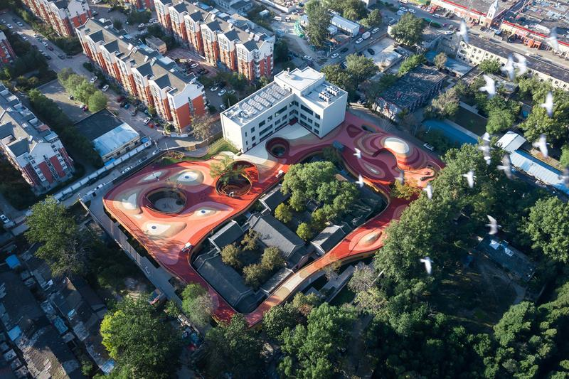 YueCheng Courtyard Kindergarten by MAD Architects ma yansong design exterior school beijing china