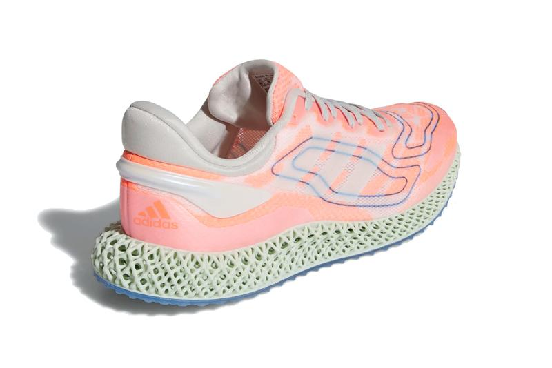 adidas 4d run 1 0 signal coral cloud white blue gray green FW1234 official release date info photos price store list buying guide