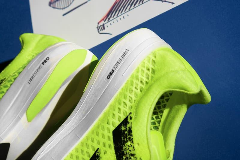 Adidas adizero adios pro sunrise bliss release yellow solar yellow information running trainers carbon fibre