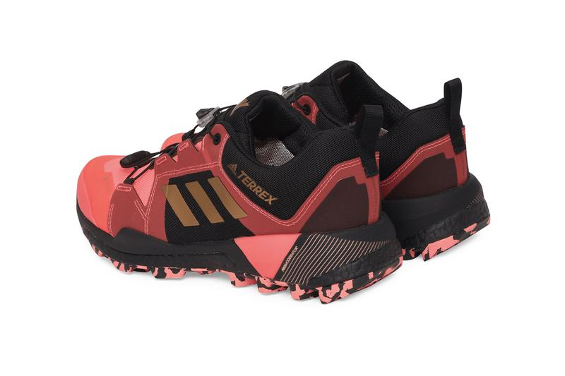 adidas TERREX Skychaser GTX GORE-TEX FX0135 Signal Pink / Copper Metallic / Core Black Speed Lacing Construction Boost Cushioning Continental™ Rubber Sole PROModerator