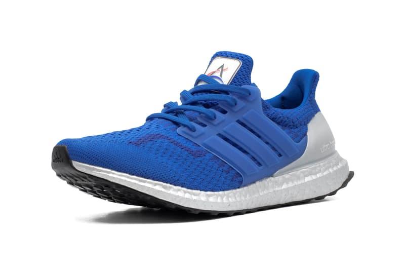 "adidas UltraBOOST DNA 5.0 ""NASA"" ""Football Blue/Royal Blue"" Silver BOOST Unit Sneaker Release Information Space Station Artemis Badges"