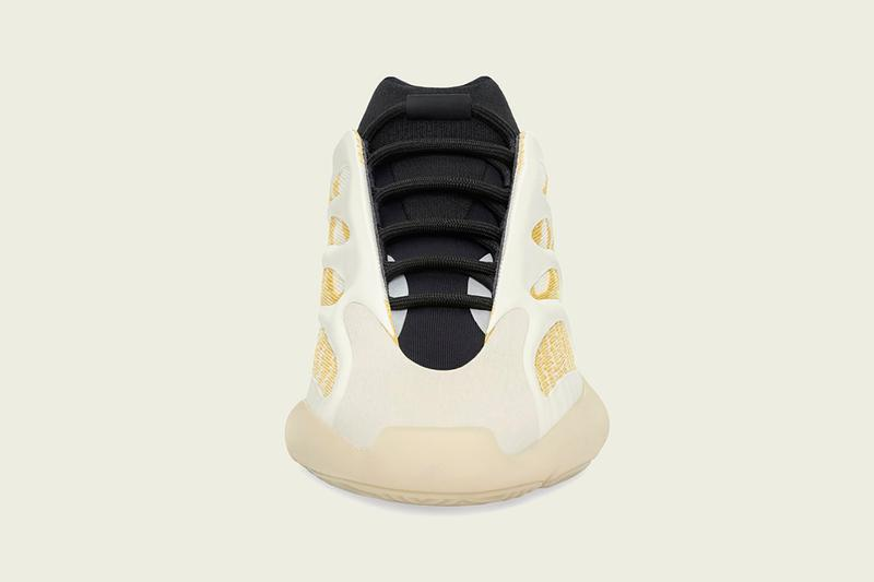 "adidas YEEZY 700 V3 ""Safflower"" G54853 Kanye West Collaborative 'Ye Sneaker Release Information Drop Date Closer Look Three Stripes BOOST Chunky Shoes Trainer Footwear Kicks Wave Runner Srphym"