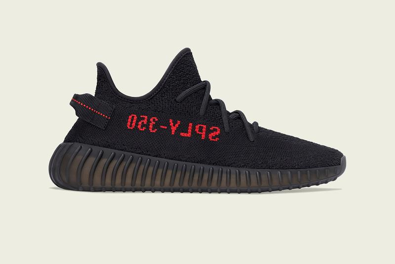"adidas YEEZY BOOST 350 V2 ""Black/Red"" Re-Release Drop Date December 5 Sizes Adults Kids Infants Release Information 'Ye Kanye West Three Stripes Bred ""SPLY-350"""
