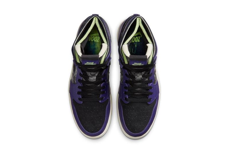 air jordan brand 1 high zoom cmft comfort bayou boys zion williamson new orchid purple blue lime blast black DC2133 500 official release date info photos price store list buying guide