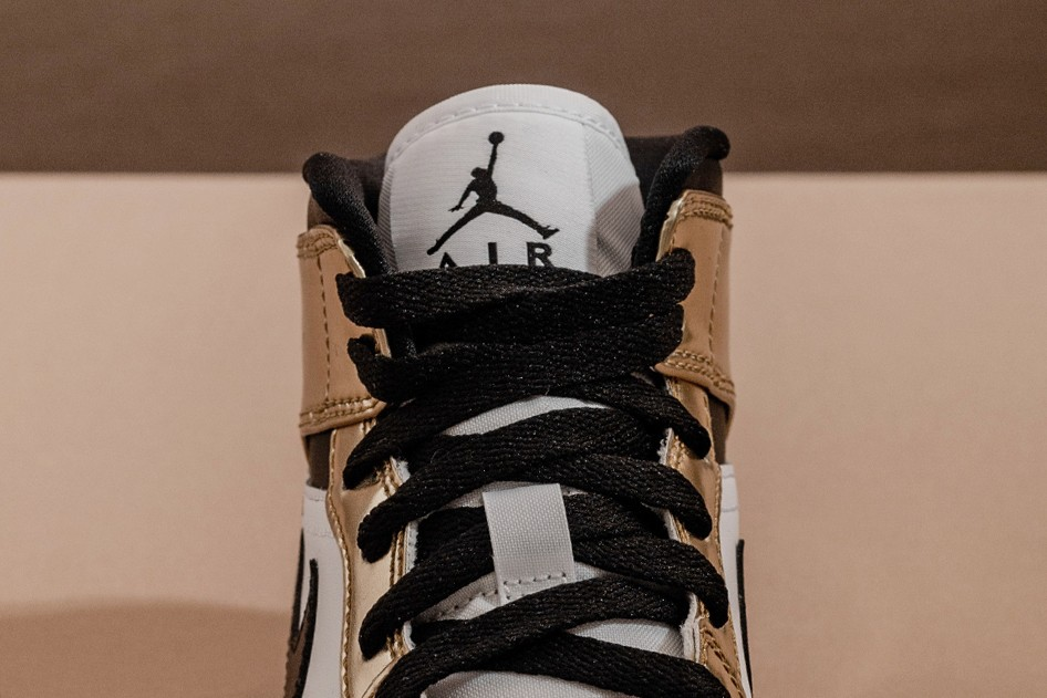 air jordan brand 1 mid metallic gold black white DC1419 700 official release date info photos price store list buying guide