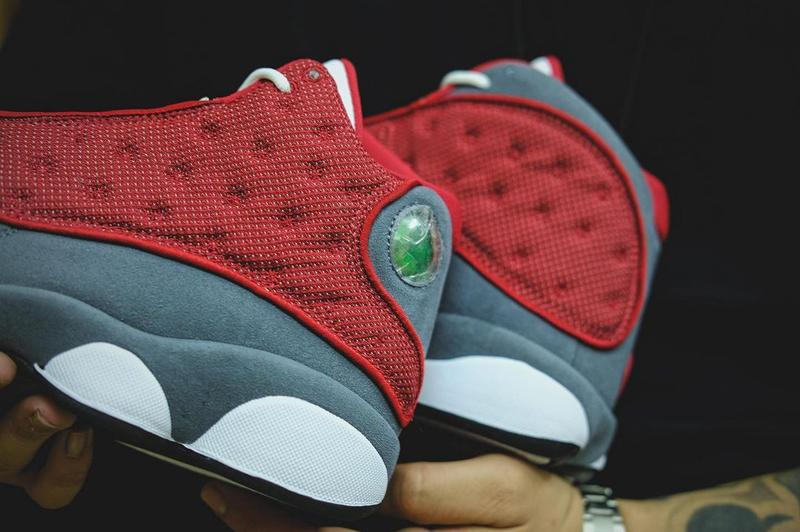 air jordan brand 13 red flint grey white official release date info photos price store list buying guide first look