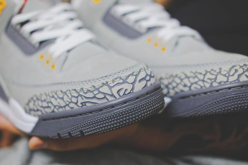 air jordan brand 3 cool grey silver light graphite orange peel sport red CT8532 012 2021 official release date info photos price store list buying guide