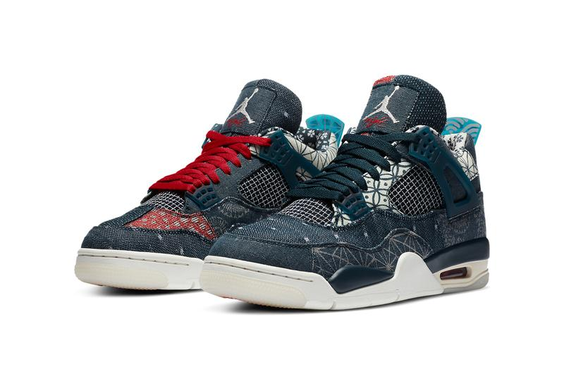 air jordan brand 4 sashiko deep ocean blue sail cement grey fire red CW0898 400 official release date info photos price store list buying guide