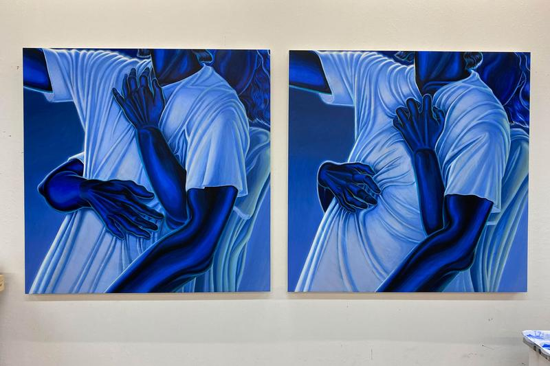 alex gardner blues exhibition the hole gallery new york city paintings
